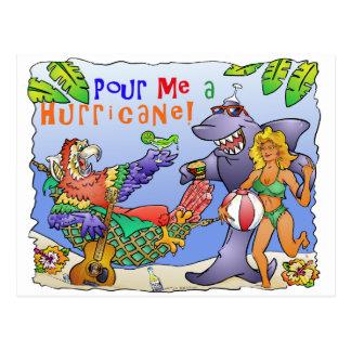 Diseño colorido del fiesta de la playa postal