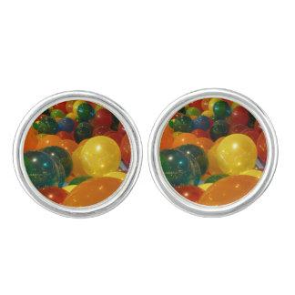 Diseño colorido del fiesta de los globos gemelos