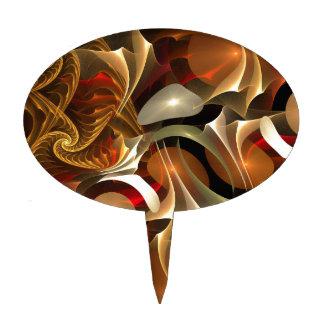 Diseño colorido del fractal decoraciones para tartas