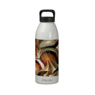Diseño colorido del fractal botella de agua reutilizable