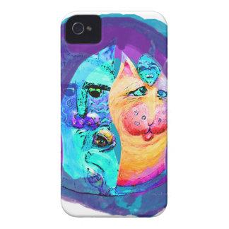 Diseño colorido del gato de los gatos y de los iPhone 4 Case-Mate carcasas