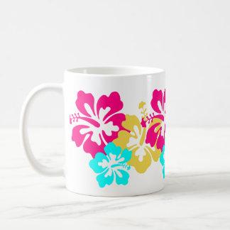 Diseño colorido del hibisco taza clásica