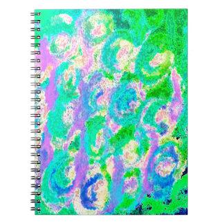 Diseño colorido del huevo de Pascua Spiral Notebooks