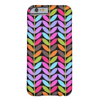 Diseño colorido del modelo de la hoja funda de iPhone 6 barely there