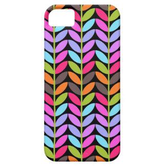 Diseño colorido del modelo de la hoja iPhone 5 carcasa