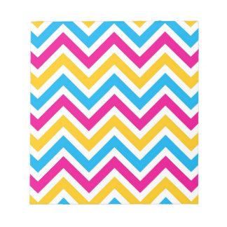 Diseño colorido del modelo de las rayas del zigzag blocs