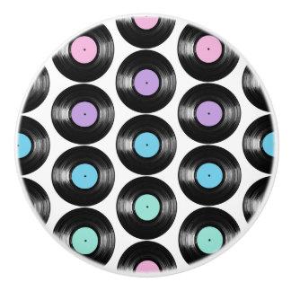 Diseño colorido del modelo de los discos de vinilo pomo de cerámica