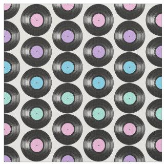 Diseño colorido del modelo de los discos de vinilo telas