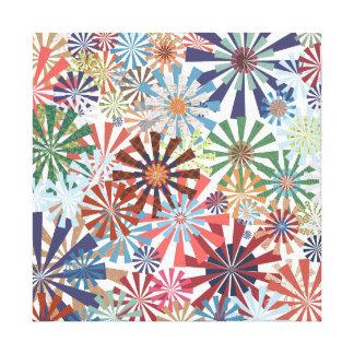 Diseño colorido del molinillo de viento de la impresiones en lienzo estiradas