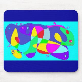 diseño colorido del monstruo de mar del ratón-cojí alfombrillas de ratones