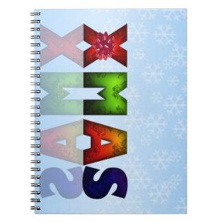 Diseño colorido del navidad libros de apuntes