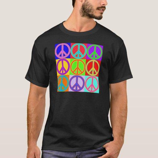 Diseño colorido del signo de la paz playera