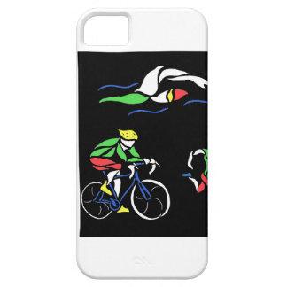 Diseño colorido del Triathlon iPhone 5 Protector