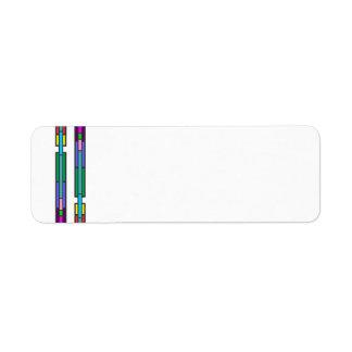 Diseño colorido del vitral etiqueta de remitente