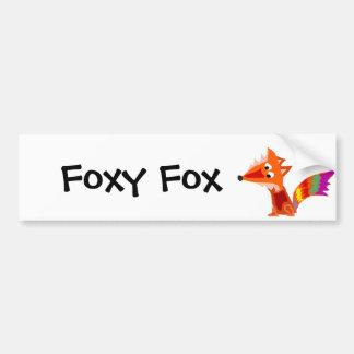 Diseño colorido enrrollado del arte del Fox rojo Pegatina Para Auto