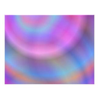 Diseño colorido folleto 21,6 x 28 cm
