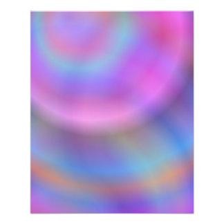 Diseño colorido folleto 11,4 x 14,2 cm