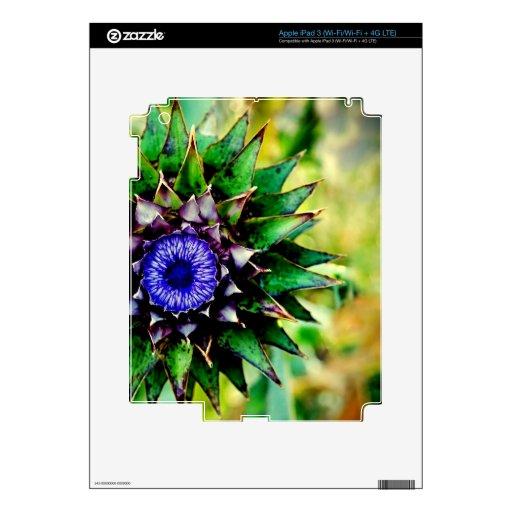 Diseño colorido intrépido grande de la flor impres pegatinas skins para iPad 3