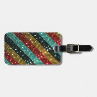 Diseño colorido intrépido rayado del brillo etiqueta de maleta