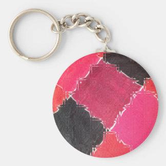 diseño colorido llavero redondo tipo pin