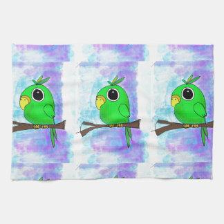 Diseño colorido original del pájaro toalla de mano