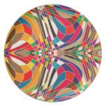 Diseño colorido platos para fiestas