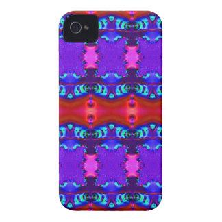 Diseño colorido púrpura rojo de la cinta iPhone 4 carcasa