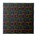 Diseño colorido retro de Digitaces del rectángulo Tejas Cerámicas