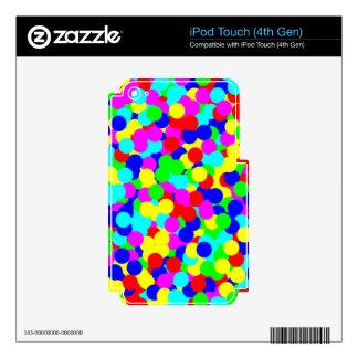 Diseño colorido simple del punto de la diversión iPod touch 4G calcomanías