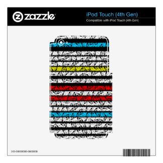 Diseño colorido simple iPod touch 4G calcomanía
