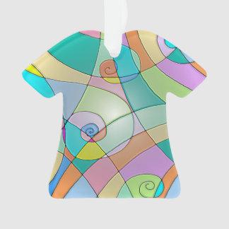 Diseño colorido simulado del vitral