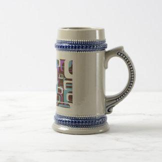 Diseño colorido tazas