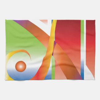Diseño colorido toalla de mano