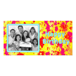 Diseño colorido, único tarjeta fotográfica
