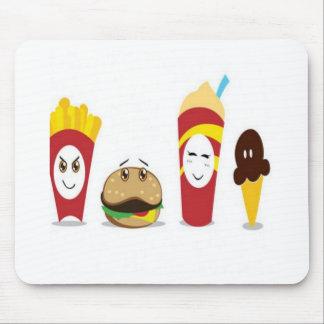 Diseño combinado de la comida tapete de ratones