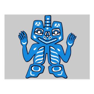 Diseño combinado de los indios del Haida Postal
