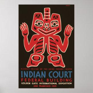 Diseño combinado de los indios del Haida Posters