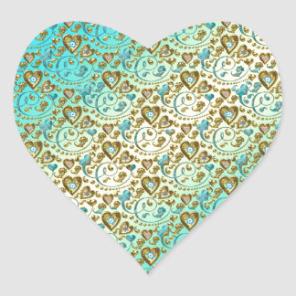 Diseño complejo del corazón pegatinas
