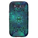 Diseño complejo del verde azul samsung galaxy s3 cárcasas