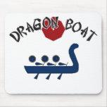Diseño completamente adaptable del barco del dragó tapete de ratones