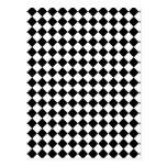 Diseño comprobado blanco y negro postal