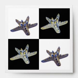 Diseño compuesto de las estrellas de mar sobre