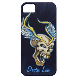 Diseño con alas del cráneo iPhone 5 funda