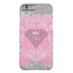 Diseño con alas rosa de Supergirl Funda Barely There iPhone 6