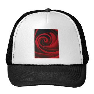 Diseño con clase del remolino de la flor del rosa gorros