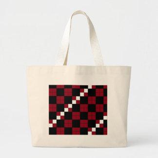 Diseño con clase del tablero de damas del rojo y d bolsas de mano