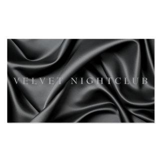 Diseño con clase, negro, liso, de seda plantilla de tarjeta personal