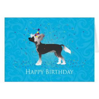 Diseño con cresta chino del cumpleaños tarjeta de felicitación