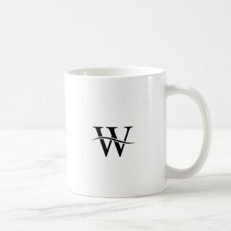 Diseño con el alfabeto W Taza Clásica