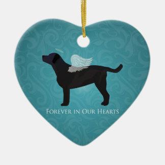 Diseño conmemorativo de la pérdida del mascota de adorno navideño de cerámica en forma de corazón